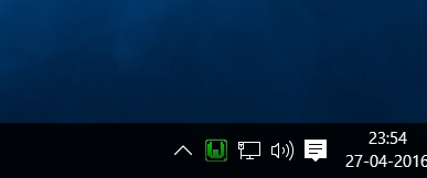 WampServer taskbar icon screenshot